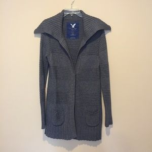charcoal winter cardigan / coat
